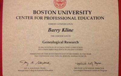 Tuesday's Tip:  BU Genealogical Research Program