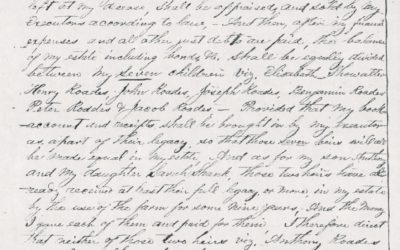 Amanuensis Monday: Will of Anthony Roades [Rhodes] of Rockingham, Virginia